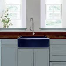 kitchen collection free shipping highpoint collection cobalt blue reversible farmhouse fireclay