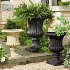 garden urns classical planter made of resin suitable for outdoor