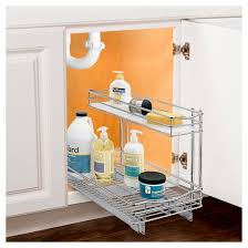 Under Cabinet Shelving by Lynk Professional Pull Out Under Sink Drawer 2 Tier Sliding