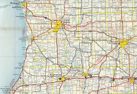 Howell Michigan Map by Interstate Guide Interstate 96