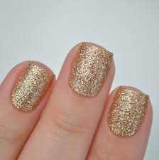 champagne gold glitter nail polish wraps from itspersonail on etsy