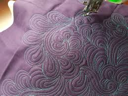Beautiful Purple Motifs Quilting Is My Therapy The Paisley Feather A Video Machine