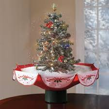 snowing holiday tabletop christmas tree with music bedding bath