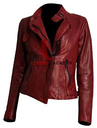 red motorcycle jacket andrew marc wynter asymmetrical zip leather motorcycle jacket