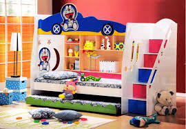 double deck bed with cabinet furniture children s bed doraemon