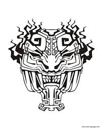 african mask coloring pages mask inspiration inca mayan aztec 4 coloring pages printable