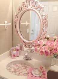 Romantic Home Decor Pink Roses Shabby Cottage Chic Room Decor Romantic Home Bathroom