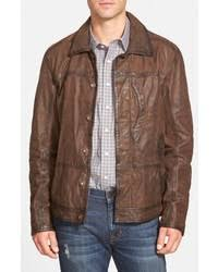 Leather Barn Coat Dark Brown Barn Jackets For Men Men U0027s Fashion