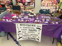 the kids relay for life fundraising table at their winter