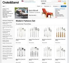 Modern Flatware Sets by Crate U0026 Barrel Modern Flatware Set Http Www Bloomreach Com