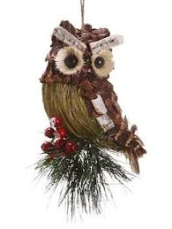 pine cone twig owls pinecone owls owl ornament and pinecone