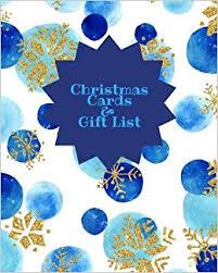 christmas cards u0026 gift list blue snow holiday shopping list