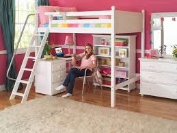 Loft Beds With Desk For Girls Girls White Loft Bed With A Desk And Vanity The Great Ideas Of