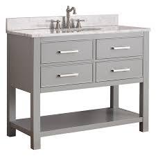 42 Inch Bathroom Vanity Cabinets Avanity Brooks Vs42 Cg Brooks 42 In Single Bathroom Vanity