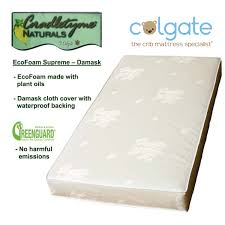 Colgate Crib Mattresses Colgate Mattress Ec500f Colgate Ecofoam Supreme Damask Cloth Eco