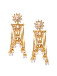 kerala style earrings jhumkas buy jhumka earrings online in india myntra