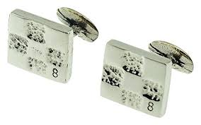 8th year anniversary gift 8th anniversary solid bronze cufflinks with sted 8