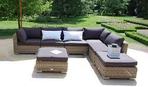 canapé d angle de jardin mobilier de jardin haut de gamme canapé d angle modulable en rotin