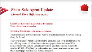 bank of america short sale incentive letter rock realty