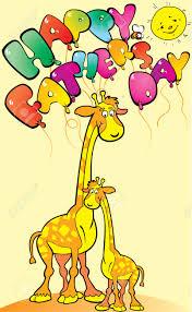 s day giraffe giraffe with his happy s day vector illustration