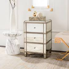 Nightstands With Mirrored Drawers Nightstands Bedside Tables Safavieh Home Bedroom Furniture