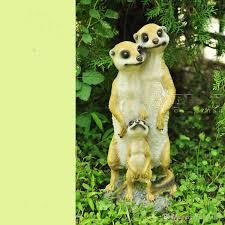 2017 simulated resin meerkat three family house creative animals