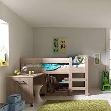 lit sureleve avec bureau lit surélevé avec bureau et rangements alix coloris chêne clair