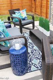 Outdoor Dining Area With No Chairs Outdoor Style Garden Outdoor Tour Blue I Style Creating