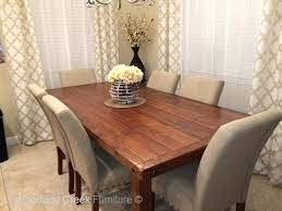 rustic pedestal table and bench rustic farmhouse dining table