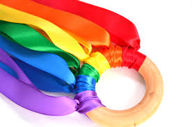 Gifts For Kids Under 10 Waldorf Hand Kite Rainbow Ribbon Runner Birthday Party