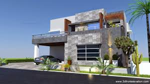 3d front elevation com 1 kanal contemporary house plan design create 1 kanal contemporary house plan design create