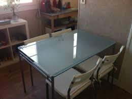 bureau plateau verre ikea bureau plateau verre ikea avec table plateau verre ikea idees et