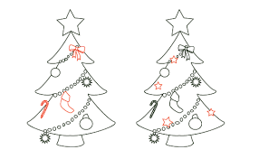 ornaments pencil and in color