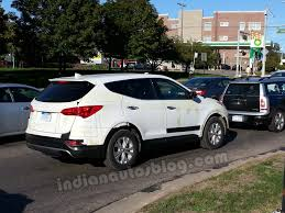 Santa Fe 2013 Interior 2013 Hyundai Santa Fe Spotted On Test In Ann Arbor Usa
