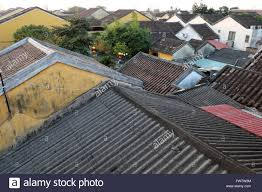 hoi an old town ancient house with tile roof old architect this
