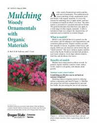 mulching woody ornamentals with organic materials osu extension