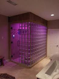 glass block bathroom ideas bathroom 2017 design modern steam shower with panel glass block