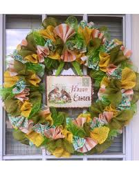 spring wreaths for front door spring shopping s hottest deal on easter burlap ribbon wreath front