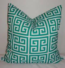 Patio Pillow Covers Outdoor Pillow Covers Geometric Chevron Greek Key Aquablue Navy