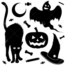 halloween witch silhouette clipart collection