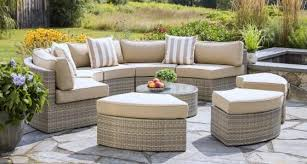 circular outdoor sectional sets patio furniture daybed sets