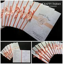 wedding program booklets wedding card malaysia crafty farms handmade peonies