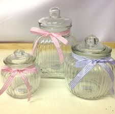 glass candy jars wedding favour boxes ribbon confectionery