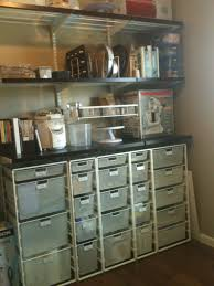 baking container storage using container store elfa system to organize baking supplies a