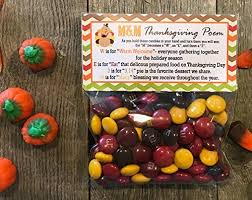 m m s thanksgiving poem treat bags and stickers set