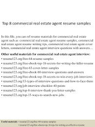 Resume Sample For Real Estate Agent by Top8commercialrealestateagentresumesamples 150527135238 Lva1 App6892 Thumbnail 4 Jpg Cb U003d1432734808