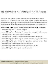 Resume Of A Real Estate Agent Top8commercialrealestateagentresumesamples 150527135238 Lva1 App6892 Thumbnail 4 Jpg Cb U003d1432734808