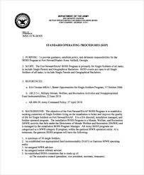 45 sop formats sop format guidance for preparing standard
