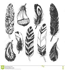 american indian coloring pages feather set in native american indian style stock vector u2013 image