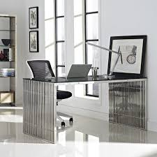 amazon com modway gridiron stainless steel dining table in silver